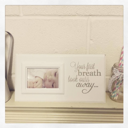 £4 OFF Large Baby Photo Frame - Your First Breath